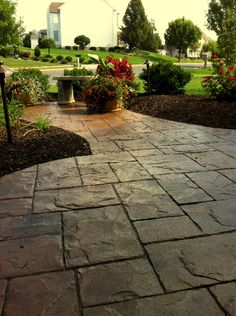 stamped concrete patio designs | ... Stamped Concrete Patio Designer Master Plan Landscape Design