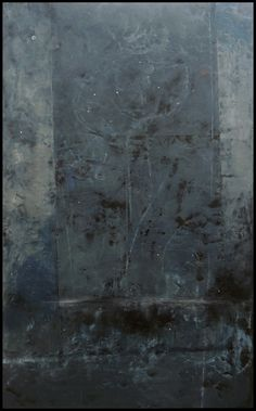 """Graceann Warn, Slate , 2016  49 """" x 31 """" x 1.5 """"  Oil, beeswax and pigment on wood panel"""