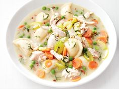 Slow-Cooker Chicken And Dumplings recipe from Food Network Kitchen via Food Network