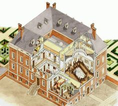 Grange at Northington, Hampshire The Plan, How To Plan, Vintage House Plans, Country House Plans, Architecture Drawings, Architecture Plan, Regency House, House Front Door, Georgian Homes