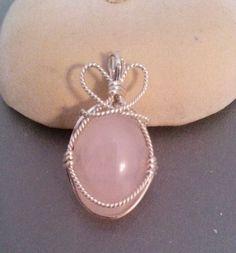Rose Quartz in sterling silver /  Pendants - IrenaDesigns.com - Fine Quality Artisan Jewelry
