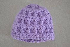 FREE Angel Baby hat pattern - I am always looking for an unusual stitch rather than the plain.  Found it.