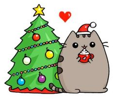 44 Ideas for drawing kawaii pusheen Christmas Drawing, Christmas Cats, Christmas Humor, Merry Christmas, Christmas Ideas, Christmas Stickers, Christmas Ornaments, Griffonnages Kawaii, Anime Kawaii