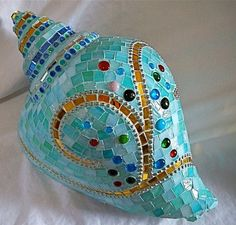 Mosaic Conch Shell
