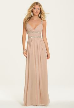 Double Stone Beaded Empire Dress from Camille La Vie and Group USA