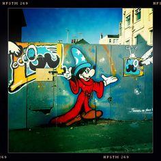 Brighton street-art / graffiti: Mickey Mouse Wizard