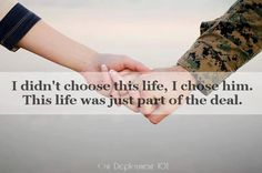 I knew what I would have to go through dating a Marine. & I chose to stay. I love you.