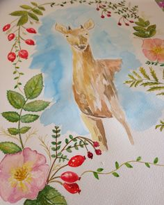 Huemul watercolor