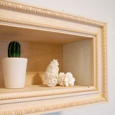 It's remarkably easy to make a frame if you have a mitre box with 45 degree angle guides. (via designsponge)