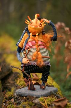 Good Troll/ OOAK handmade art doll / Interior doll от Bizzzness