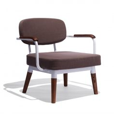 """love the mix of wood, white lacquer and upholstery @ 28""""wide Ingrid Chair"""