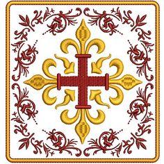 Borde alfaias litúrgicas, conjuntos de altar, temos mais de 60 conjuntos compostos de 4 e 5 arquivos para bordar esse tipo de trabalho