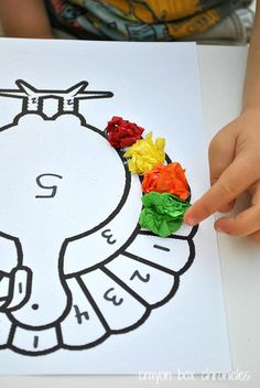 Turkey activities: Turkey tissue paper craft:  choose color by Number.  Great fine motor skill with nice 3D results.