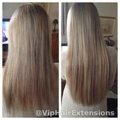 "22"" beautiful blonde mini micro rings on fine hair www.viphairextensions.co.uk"