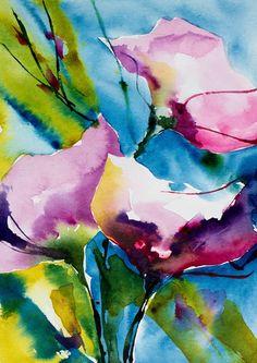 Petit instant N°182 - Painting,  15x21 cm ©2014 par Véronique Piaser-Moyen -  Peinture, Aquarelle