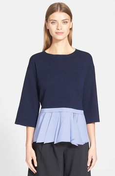 Tibi Layered Peplum Pullover available at #Nordstrom