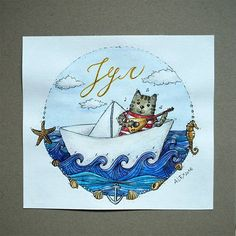 All magical things happen between months June and August :) July is here, and here's new calendar illustration! #summer #July #dream #paper #boat #cat #sea #ship #ocean #happiness #aquarelle #illustration #illustrator #watercolors #aquarelle #aquarel #watercolorillustration #watercolorart #art #artist #art_we_inspire #art_spotlight #inspiring_watercolors #inspiration #soulart #dailyart #artwork #topcreator #instaart #myart #aleksithegreat