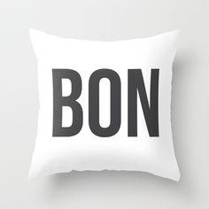 Bon - Bon Jour Throw Pillow