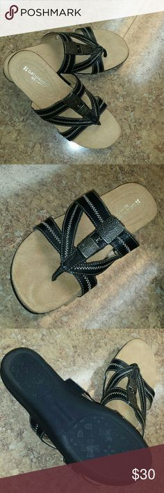 Naturalizer N5 Comfort Sandals size 7.5 Like new, soft cushion top suede,  very comfortable, will not cause your feet to sweat! Beautiful gold hardware, hardly any wear on souls. Naturalizer Shoes Sandals