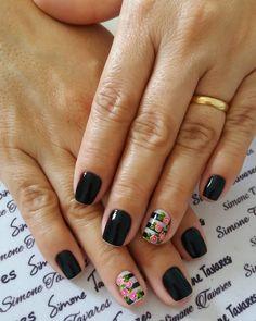 24 Modelos de Unhas decoradas românticas com flores Great Nails, Perfect Nails, Simple Nails, Nail Art Design 2017, Fall Nail Art Designs, Fire Nails, Nail Art Diy, Manicure And Pedicure, Nails Inspiration