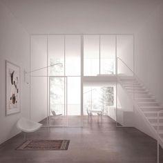 Duplex Wohnung Render Architecture, Architecture Visualization, Architecture Details, Interior Architecture, Minimalist Room, Minimalist Interior, Apartment Interior, Duplex Apartment, Apartment Layout