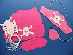 Girls Pink Pirate Hat & Patch Kit - Makes 100 Themed Crafts for Kids, Pirate Crafts - Girly Pink,  childrens crafts, kids craft supplies, children's craft kits