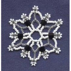 Tila: bead Snowflake Pattern; Free download.