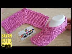 Knitting Basics: Two knitted women crochet slippers stitch for beginners, Diy Abschnitt, Knitting Basics, Knitting Videos, Knitting For Beginners, Knitting Stitches, Knitting Socks, Knitting Patterns Free, Baby Knitting, Crochet Patterns, Knitted Slippers