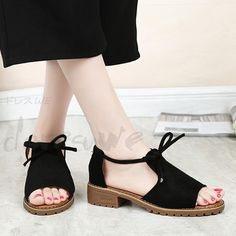 Women's Flats Lace Up Wedge Espadrilles Summer Chunky Holiday Sandals Shoes Size Strappy Sandals, Shoes Sandals, Flat Sandals, Low Heel Shoes, Low Heels, Lace Up Wedges, Huaraches, Summer Shoes, Womens Flats