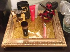 Gold Vanity Tray, Perfume Tray, on Etsy, $33.00