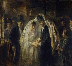 Joodse bruiloft, Jozef Isra�ls, 1903