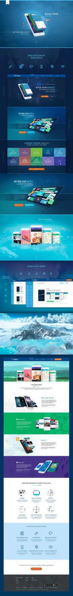 Creating a website design, mobile applications designer (KickAss) Website Design, Website Layout, Web Layout, Layout Design, Web Responsive, Ui Web, Design Ios, Page Design, Flat Design