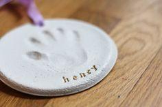 diy salt dough handprint ornament