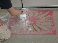 Apex High School: Street art with stencils and corn starch