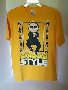 Mens Jerzees Heavyweight Blend Yellow Graphic Gangnam Style T-shirt Medium | Clothing, Shoes & Accessories, Men's Clothing, T-Shirts | eBay!