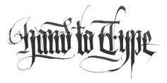 Calligraphy by Kossyo, via Behance