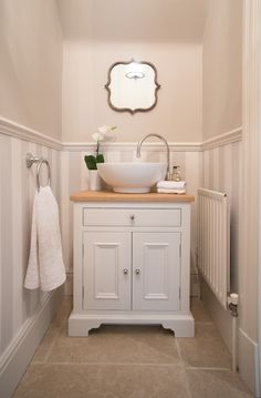 Washstand - perfect for small space. Neptune Washstand – perfect for small space. Neptune Washstand – perfect for small space. Bad Inspiration, Bathroom Inspiration, Bathroom Storage, Bathroom Interior, Neptune Bathroom, Bathroom Sinks, Bathroom Ideas, Cloakroom Ideas Small, Bathroom Designs