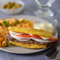 Jibarito is an authentic Puerto Rican sandwich made out of flattened, fried green plantains instead ...