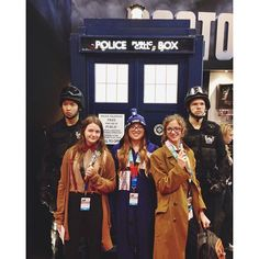 Pin for Later: 20+ Epic Cosplays From New York Comic Con The Tenth and Eleventh Doctors, the TARDIS, and UNIT