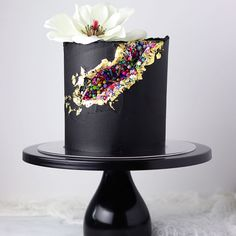 All of you have blown me away with your sprinkle geode cakes! I have seriously loved seeing them! I received a lot of questions about my… Beautiful Birthday Cakes, Beautiful Cakes, Amazing Cakes, Fancy Cakes, Mini Cakes, Cupcake Cakes, Pretty Cakes, Cute Cakes, Geode Cake
