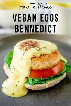 How to Make Vegan Eggs Bennedict I easy vegan eggs bennedict I how to make vegan eggs bennedict I tips for making vegan egg bennedict I egg-free egg bennedict recipe I vegan hollandaise sauce recipe I homemade vegan eggs bennedict I delicious recipes with tofu I tofu eggs bennedict recipe I vegan breakfast recipes I delicious vegan brunch recipes #eggsbennedict #veganrecipes Beef Recipes, Vegetarian Recipes, Vegan Dishes, Tasty Dishes, Kitchen Recipes, Easy Meals, Vegan Blogs, Vegan Lifestyle, Going Vegan