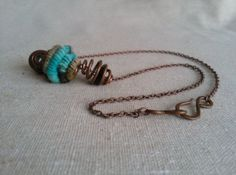 Handspun Bead with Moonrover Yarn and Upcycled by BricolageStudios, $35.00