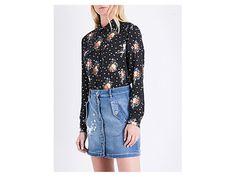 THE KOOPLES SPORT Floral loose-fit poplin shirt