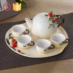 Chinese Porcelain enamel design peach tea set for home, View chinese porcelain tea set, YOU LAI FU Product Details from Shenzhen Youlaifu Household Company Limted on Alibaba.com