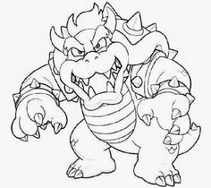 bowser and bowser jr coloring pages | Bowser coloring bowser coloring pages dry bowser mario ...