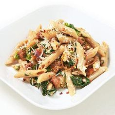 Penne with Broccoli Rabe and Ricotta (Flat Abs Diet: 7 Low-Fat Dinner Recipes | Fitness Magazine)