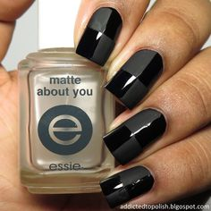 Matte Tape Nail Art | Addicted to Polish