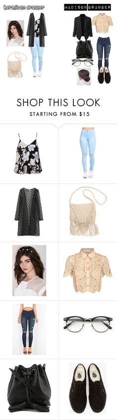"""""""Sin título #118"""" by evelyn-mendoza-1 on Polyvore featuring moda, Ally Fashion, WithChic, Billabong, Noir Jewelry, self-portrait, Rebecca Minkoff, Vans y LE3NO"""