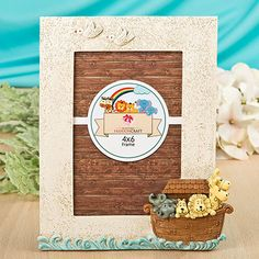 Fashioncraft Baby Picture Frames Noahs Ark Nursery D/écor Set ~ First Year Picture Frame Collage with 4x6 Photo Frame Perfect Baby Shower Gender Neutral Gift