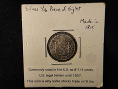 Lot 155: 1815 Spanish Silver Half Reale Coin - Chumney House Auctions, LLC | AuctionZip
